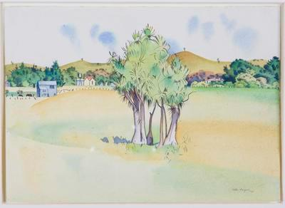 Landscape with Cabbage Trees (near Waikanae)
