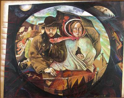 The First of New Zealand From the Last of England by Ford Madox Brown