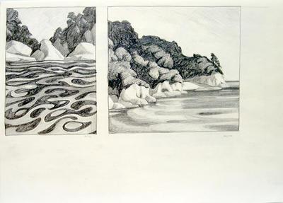 Untitled (beachscape, two scenes)