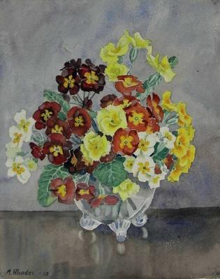 Untitled still life (primulas and carnations)