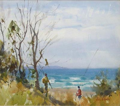 Surf Fishing, Lorne, Victoria