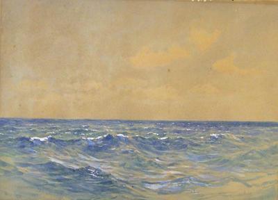 Blank Ocean and Mere Sky