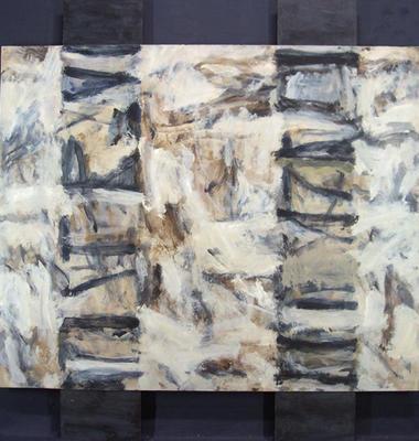 Three Panels (Blue and Grey)