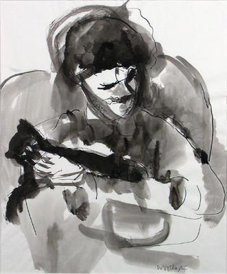 Alix Simpson with Cat