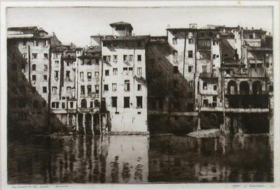 Old Houses on the Arno, Florence