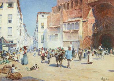 A Sunlit Street in Spain