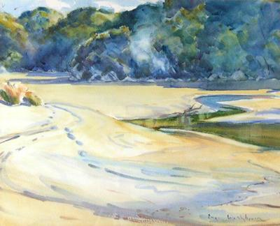 Marahau (tidal scene with bush)